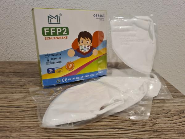 FFP2 Masken / Weiß für Kinder, 10 Stück